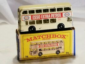 vintage 1966 matchbox car no 74 daimler bus