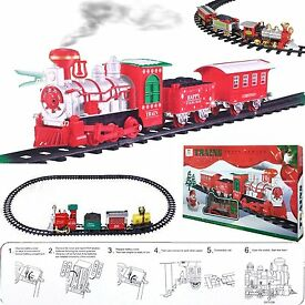 large holiday express christmas train track