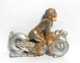 vtg manoil barclay motorcycle rider toy