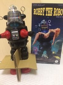 robby the robot osaka tin toy wind up the