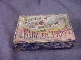 rare 1860s antique game of farmer trott by