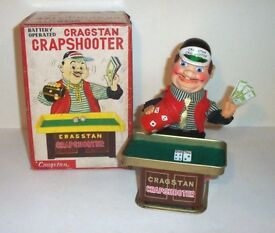 clean 1950 s battery operated crapshooter