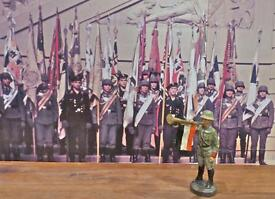 standing german soldier fanfare trumpet only