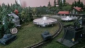 z scale ufo flying saucer disc detailed