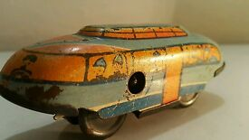 vintage wind up space toy dolomiten express