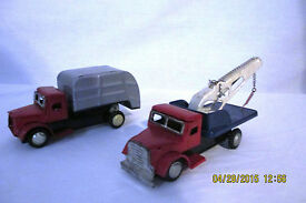 vintage made in japan tin friction tow truck