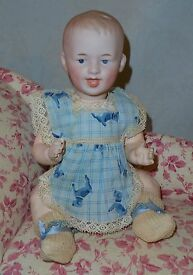 9 german bisque laughing character baby 7604