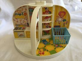 vintage moppet s three room doll house by