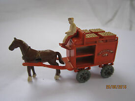 vintage lead milk float horse driver made by