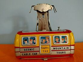 rare toy cable car great graphics vintage