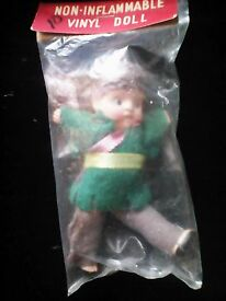 vintage davie crocket vinyl boy doll 1940 50