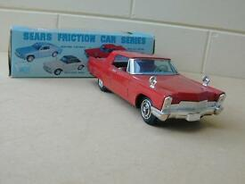 vintage tin friction bandai 60 s cadillac