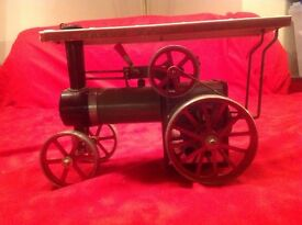 vintage mamod steam tractor toy tin metal