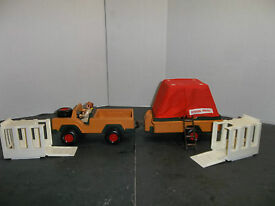 vintage fisher price safari play set with