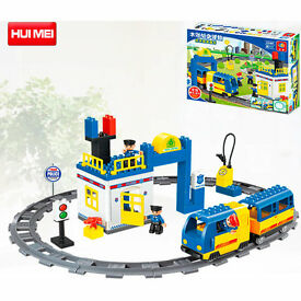 kidoloop 119 pcs train with wagon set block