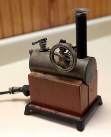 antique vintage steam engine toy from the 30