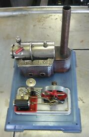 cool vintage steam engine germany tin toy