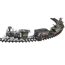 military electric track train with sound and