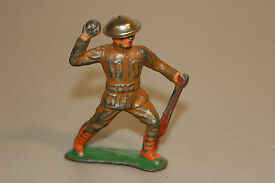 barclay lead metal toy soldier throwing