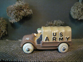 barclay toy lead us army truck w soldier
