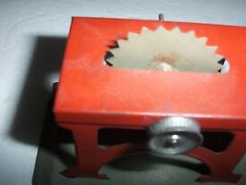 vintage tin toy steam engine table saw made