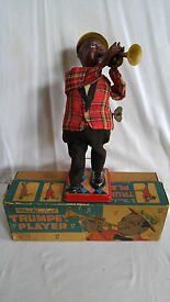 black americana wind up toy louis armstron