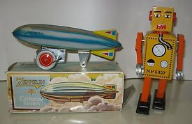 2 lot tin litho wind up mechanical toy
