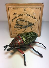 1896 lehmann wind up crawling beetle with