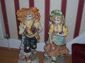 capodimonte boy and a girl large floor