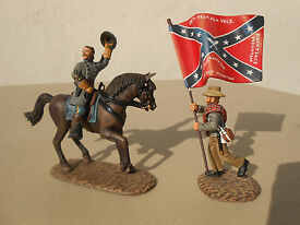 frontline figures mounted confederate