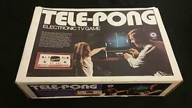 boxed tele pong electronic tv vintage game