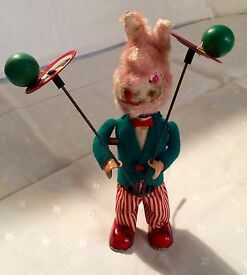 vintage japanese wind up juggling bunny