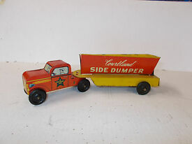 vintage walt reach truck and dumper by
