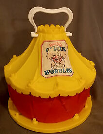 1977 vintage weeble wobble circus tent play