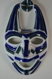 spanish porcelain mask collectible figurine