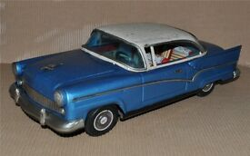 1960s vintage friction ford large 15 tin car