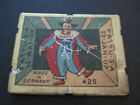 antique germany balky mule and clown tin