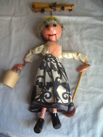 vintage puppet hand painted wood puppet old