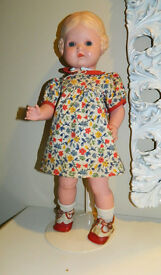 antique german 17 5 doll toy blonde girl
