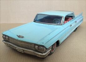 1960s yonezawa cadillac tin friction car 13