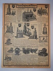 steam engine motor toy tool antique ad 1918
