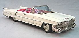 vintage tin friction cadillac convertible