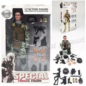 1 6 special force soldier set 12 military