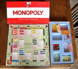 monopoly vintage 1961 british edition by