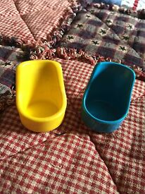 2 vintage tree house yellow rocking chair