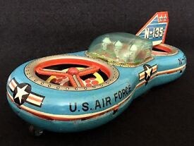 1950s atc asahi tin toy flying jeep race car