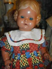 old celluloid doll schildkroet baerbel