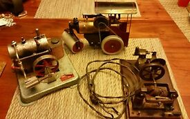 3 antique vintage steam engine toy electric