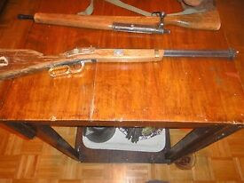 vintage wood metal toy gun rifle western