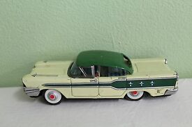vintage 1959 pontiac tin litho toy car japan
